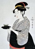 Kitagawa Utamaro (ca. 1753 - October 31, 1806) was a Japanese printmaker and painter, who is considered one of the greatest artists of woodblock prints (ukiyo-e). He is known especially for his masterfully composed studies of women, known as bijinga. He also produced nature studies, particularly illustrated books of insects.